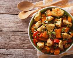 comment cuisiner courge butternut recette poêlée de courge butternut et de poulet facile rapide