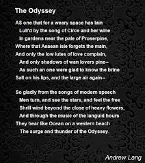 the odyssey in modern the odyssey poem by andrew lang poem