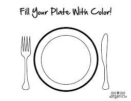 46 Empty Plate Coloring Page What039s For Lunch