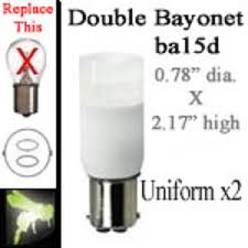 volt led bulbs x2 ba15d bayonet base