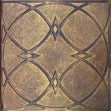 24x24 Pvc Ceiling Tiles by Alfa Copper Patina 24x24