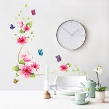 5 Design Small Sakura Flower Wall Stickers Bedroom Room Pvc Decal Mural Arts Diy Zooyoo6008 Home Decorations Decals Posters In From