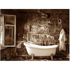 querfarben badezimmer panoramabild im format poster wandbild poster fotografie trendiger kunstdruck auf leinwand größen 30 cm x 40