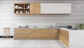 3d rendering holz vintage küche und esszimmer