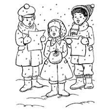 Carols Choir Coloring Pages Christmas Elf To Print