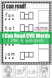 CVC Worksheets Cut and Paste Letter A Only Passionate Curiosity
