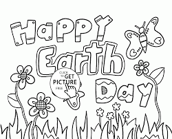 Earth Day Coloring Pages Happy Page For Kids Printables Free Book