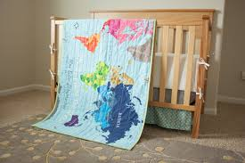 World Map Toddler Bedding Best Ready To Ship World Map Quilt