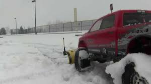 RC ENDEAVORS- Axial SCX10 Ram Snow Plow Truck V7 - YouTube