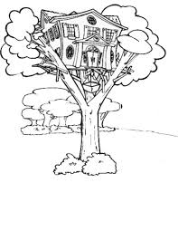 Crafty Inspiration Ideas Treehouse Coloring Pages Page Tree House Books And Etc