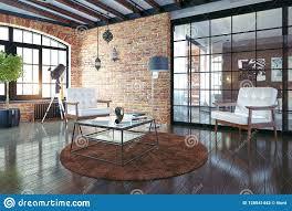 100 Modern Loft Interior Design Loft Interior Stock Illustration Illustration Of
