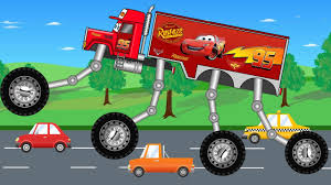 Big Mcqueen Truck - Monster Trucks For Children - Kids Video - YouTube