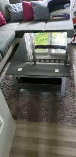 wohnzimmer tisch glastisch schwarz
