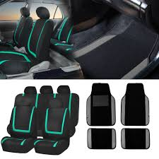 Chevrolet Cruze Floor Mats Uk by Black U0026 Mint Car Seat Covers With Gray Carpet Floor Mats For Auto