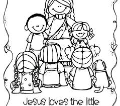 Charming Jesus Loves Children Coloring Page Image The Little Pages Printable