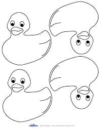 Rubber Duck Coloring Pages Printable Baby Donald Page Animal