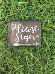 Please Sign Guestbook Wedding Decorations Rustic Boho Signage Decor Stained