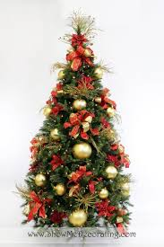 Pre Lit Slim Christmas Trees Argos by Christmas Show Me Decorating