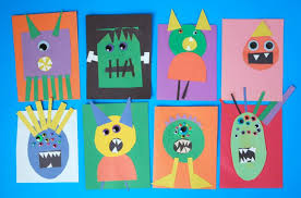 Paper Monster Craft For Halloween