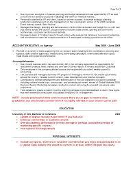 Agency Resumes Sample Resume