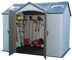 lifetime 10 x 8 single entrance plastic shed