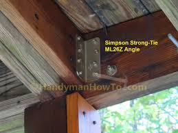 Simpson Strong Tie Ceiling Joist Hangers by How To Build Code Compliant Deck Railing