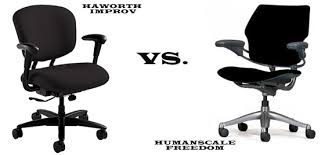 Human Scale Freedom Chair Manual by The Humanscale Freedom Vs The Haworth Improv Task Chair