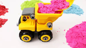 Dump Truck Building Toys Learn Colors With Dump Truck And Sand For ...