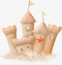 Beach Sand Castle Clipart PNG Image And