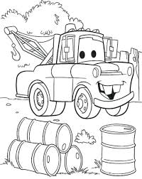 Coloring Pages Mater Page Free Truck Printable At 119 Outstanding Disney Cars 2 To Print