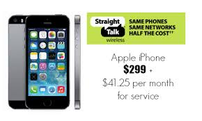 Walmart Apple iPhone 5s for Straight Talk $299 Southern Savers
