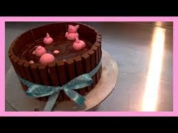 kitkat schweine torte mit kinderschokolade kitkat pigs in