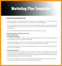 Format Of Marketing Plan Document Template Doc Peekinco