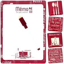 tableau memo cuisine memo pour cuisine set memo tableau cuisine du chef avec 4 magnets cr