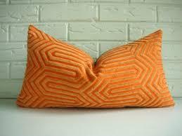 Decorative Lumbar Pillows For Bed by Decorative Lumbar Pillow Orange Designer Throw Cover Mid Century
