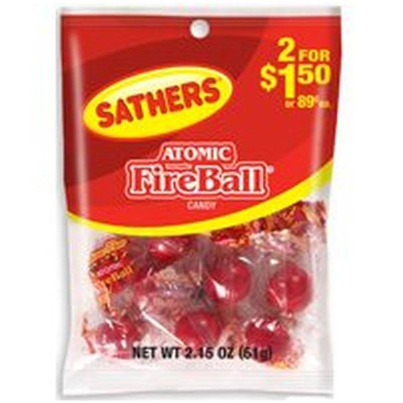 Sathers Candy, Atomic Fireballs - 2.15 oz