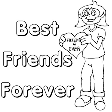 Best Friend Coloring Pages Getcoloringpages In