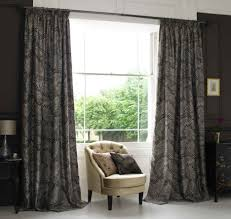 Modern Window Curtains For Living Room by Living Room Modern Gorgeous Black Windows Curtain Of White Glass
