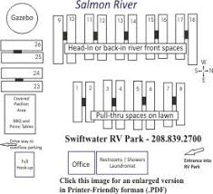 Swiftwater RV Park Layout Map