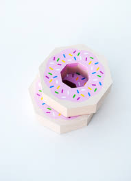 Giftwrap Paper Donut Free Template
