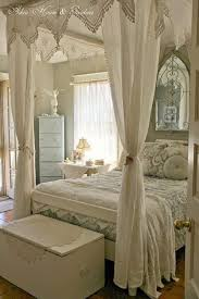 vintage fourposter bed shabby chic schlafzimmer