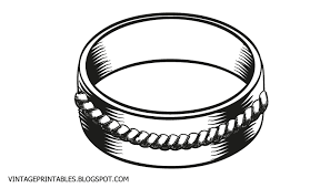 Retro wedding ring clip art