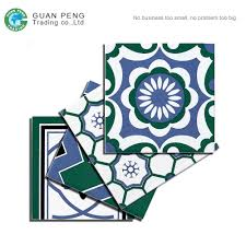 green bule white color wall ceramic floor tile porcelain 20x20