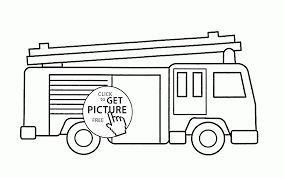 Simple Fire Truck Coloring Page For Kids, Transportation Coloring ...