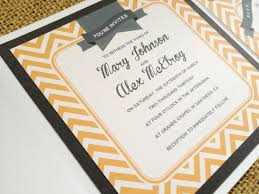 Modern Vintage Wedding Invitations Combined With Sweet Black Background And Artistic Yellow