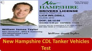 100 Meadowlark Trucking New Hampshire CDL Tanker Vehicles Test YouTube