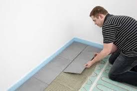 0 5 qm elektrische fussbodenheizung dünnbett für bad 3mm höhe