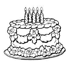 Birthday Cake Coloring Page Sheets Free Pages Printable Happy