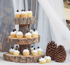 Fox Creek Woodcraft Rustic Three Tier 65 This Stand Is Perfect For Serving Up Cupcakes At An Outdoorsy Wedding