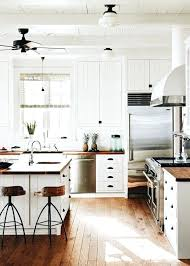 Farmhouse Kitchen Ideas Schoolhouse Lights Lighting White Butter Lock Black Cabinet Hardware Old